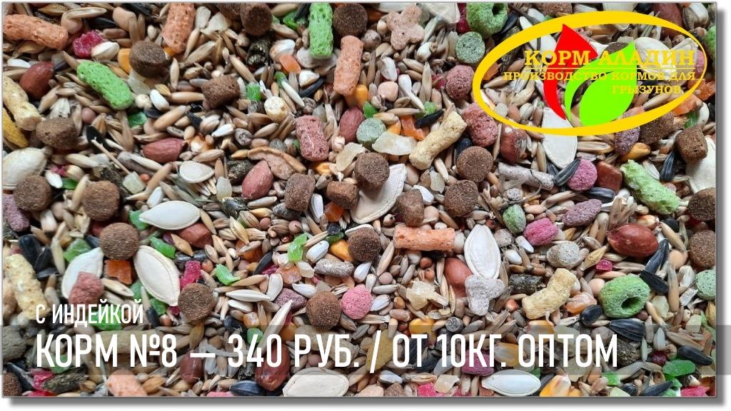 Аладин | Корм для грызунов с индейкой №❽ — 345 руб.